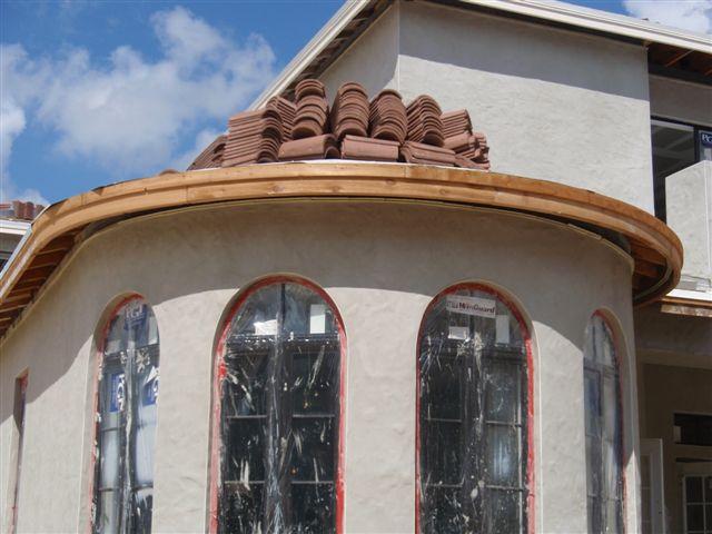 2 x 8 cedar fascia around turrets - Brentwood C.H. 009