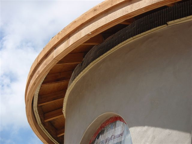 2 x 8 cedar fascia around turrets - Brentwood C.H. 008